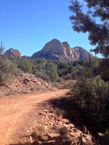 Trail running on Bell Rock Path